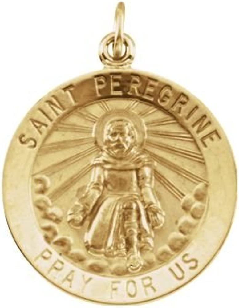 Peregrine Medal FB Jewels 14K Yellow Gold 15mm Round St