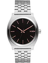 Nixon Mens Time Teller A0452064 Silver Stainless-Steel Watch