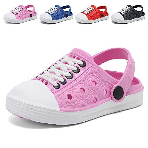 Boys Comfort Clogs - EQUICK Boys & Girls EVA Garden Clogs Lightweight Beach Sandals Shoes(Toddler/Little Kid) U219DDX001-Pink-31