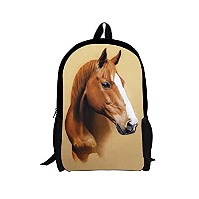 f6e190996db5 on sale Dellukee School Bags For Teenager Cute Animal Horse Print ...