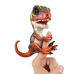 Untamed Raptor by Fingerlings Interactive Collectible Dinosaur  by WowWee Blaze (Orange)