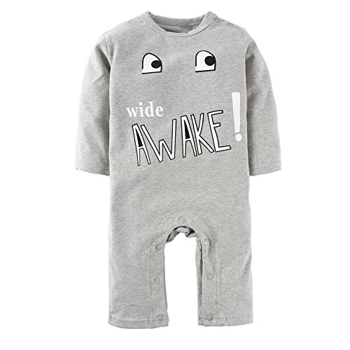 BIG ELEPHANT Baby Boys'1 Piece Cute Graphic Long Sleeve Romper Pajama L34-66 3-6 Months - Newborn Boys 2 Piece Overall