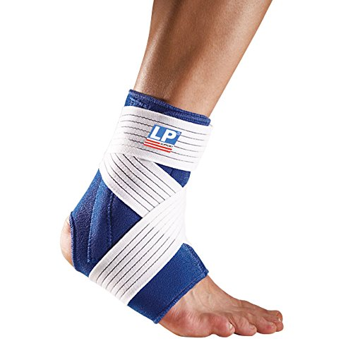 - LP SUPPORT 775 - Ankle Support with Stay and Strap- Neoprene Ankle Brace - Relief for Ankle Sprain and Painful Joints - Extra Strap for Compression (M)
