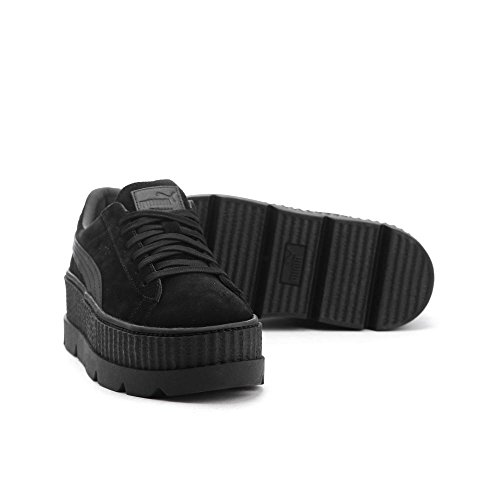 Sneaker PUMA Cleated Ankle Suede Creeper Women's Black High Fashion Puma O7q0OCwn