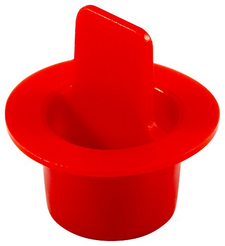 Caplugs QCPT4XQ1 Plastic Center Pull Tab Tapered Plug. CPT-4X, PE-LD, Cap OD 0.76'' Plug ID 0.524'', Red (Pack of 1000) by Caplugs