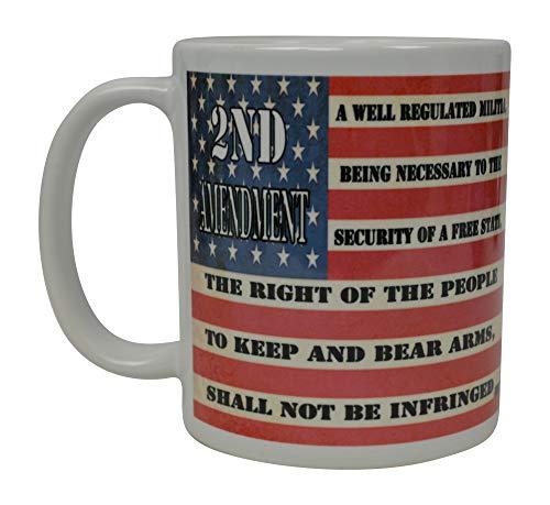 (Patriotic USA Flag Coffee Mug Novelty Cup Gift America Pro Gun 2nd Second Amendment )