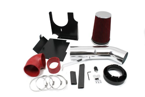 02 03 04 05 06 Cadillac Escalade 5.3L / 6.0L Heat Shield Intake Red (Included Air Filter) #Hi-CD-1R