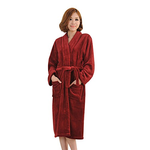 Emmas style women's long-sleeved thick flannel nightgown(...