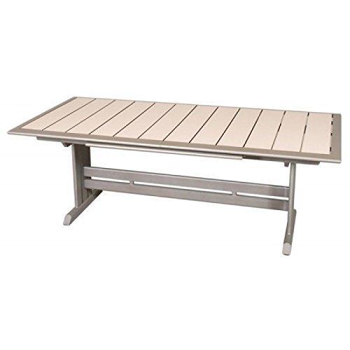 Amazon.de: LES JARDINS rechteckigen Tisch hegoa mit Fuß ...
