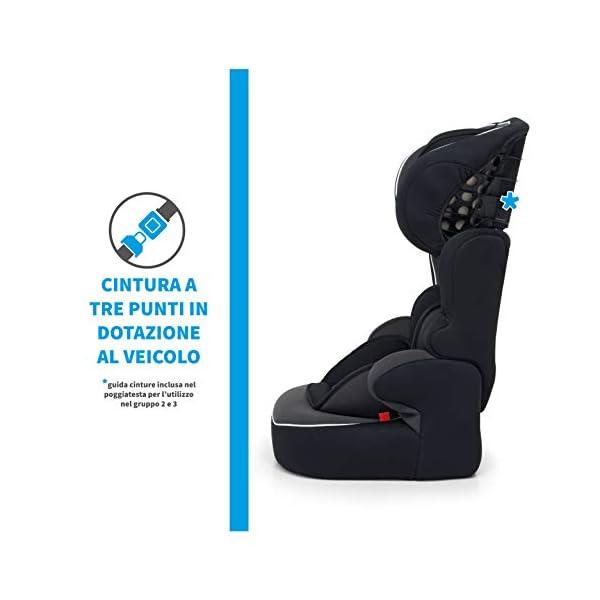 Foppapedretti Babyroad - Seggiolino Auto, Gruppo 1-2-3 (9-36 Kg) per Bambini da 9 Mesi a 12 Anni Circa, Nero (Noir) 2