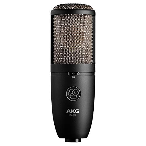 (AKG Pro Audio P420 Sliver Blue 9.80 x 5.50 x 9.00 inches 3101H00430)