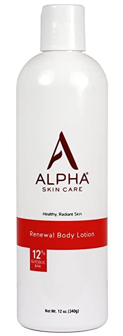 Alpha Skin Care Renewal Body Lotion with 12% Glycolic AHA, 12 Ounce ( Packaging May Vary)