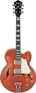 Ibanez Artcore AF Series AF75D Hollow Body Acoustic Electric Guitar - Transparent Orange