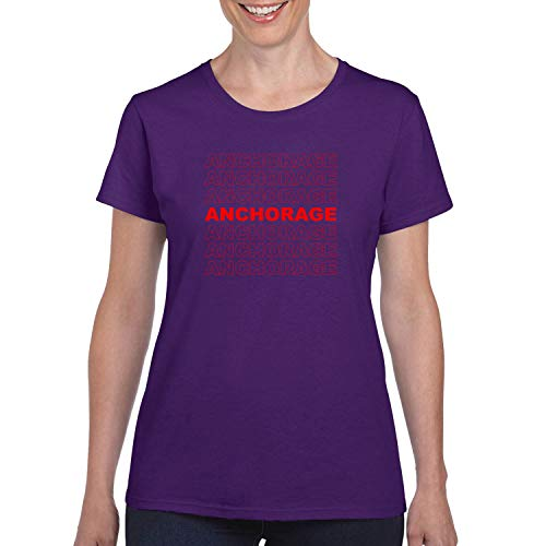 Red Box Logo Anchorage City Pride Womens Graphic T-Shirt, Purple, Large]()