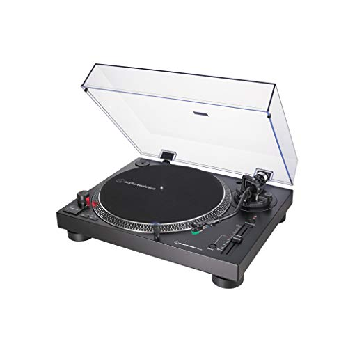Audio-Technica AT-LP120X, Tocadiscos de Tracción Directa (Analógico y USB), Negro