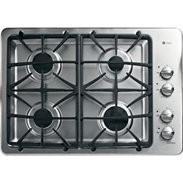 GE PGP943SETSS Profile 30 Stainless Steel Gas Sealed Burner Cooktop