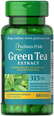 Puritan's Pride Green Tea Standardized Extract 315 mg-100 Capsule