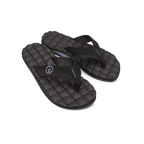 Volcom Men's Recliner Flip Flop Sandal, Blue Black, 8 D US