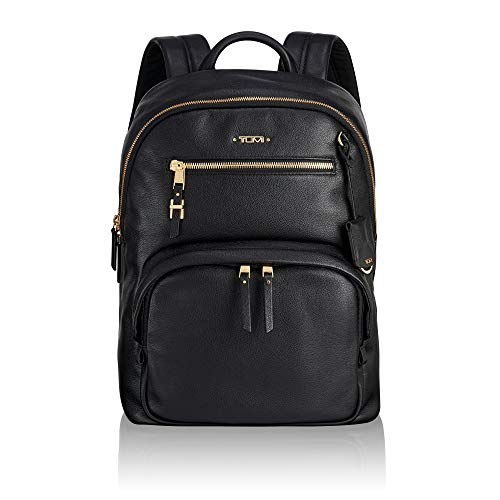 TUMI - Voyageur Hagen Leather Laptop Backpack - 12 Inch Computer Bag For Women - Black