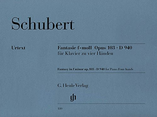 Fantasy F Minor Op 103 D 940 For Piano Four-Hands (Schubert Fantasie In F Minor Sheet Music)