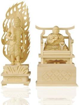 仏像 真言宗 金泥書 弘法大師 2.0寸不動明王 4.0寸 特製白木