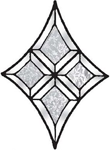 (Stained Glass Supplies Flared Diamond Style Clear Glue Chip Bevel Cluster BC309SGC )