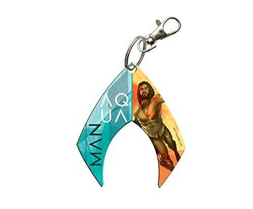 Trend Setters Aquaman Keychain - Shield Logo Shaped Acyrlic - Fused Image Officially Licensed