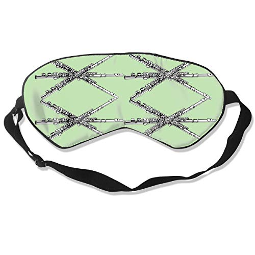 Flute Clip Art Silk Sleep Eye Mask Lightweight And Comfortable Blindfold With Adjustable Strap -