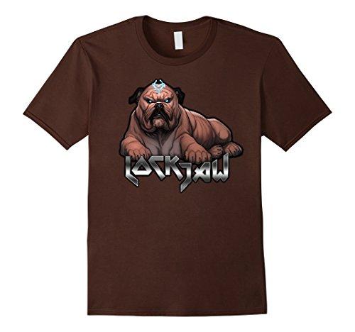 Mens Marvel Lockjaw Laydown Royal Prince Inhumans Graphic T-Shirt Large - Jaw Men Large