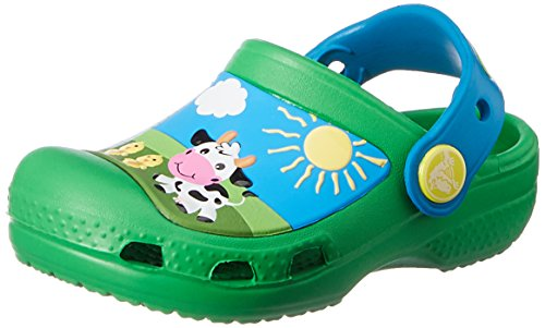Crocs Creative Barnyard Clog (Toddler/Little Kid), Grass Green, 6/7 M US Toddler by Crocs