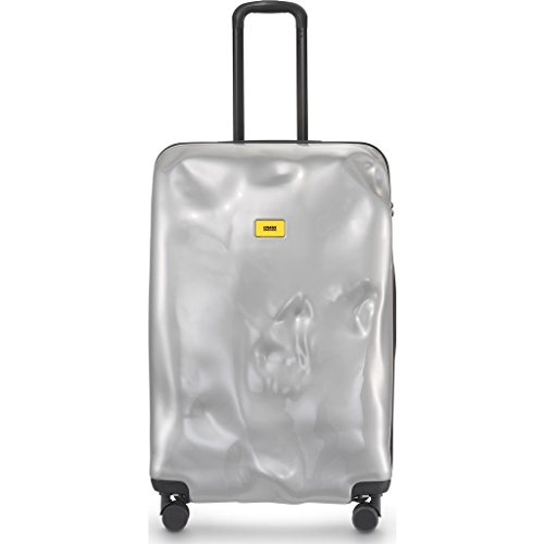 Crash Baggage Bright Large Trolley Suitcase | Silver Medal by Crash Baggage