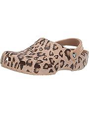 Crocs Men's and Women's Classic Animal Print Clog   Zebra and Leopard Shoes