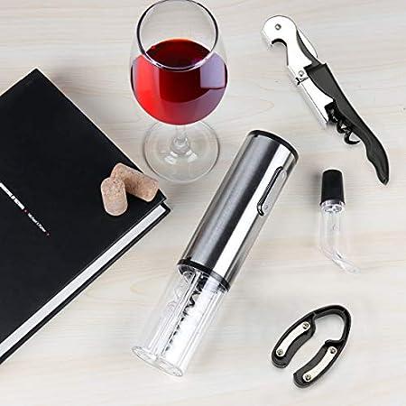 TOQIBO Sacacorchos, Sacacorchos Eléctrico Profesional, Abridor de Botellas con Cortador de Cápsulas y Vertedor de Vino - Recargable [Clase de eficiencia energética A+++][Clase de eficiencia energética A+++]