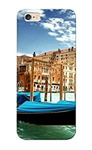 Awesome Design Venice Canal Grande Venice Italy The Grand Canal Gondolas Water Green Sea Architecture Sky Clouds Boats Buildings Hard Case Cover For Iphone 6 Plus(gift For Lovers)