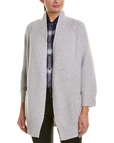 Vince Womens Marl Wool & Cashmere-Blend Cardigan, L, Grey