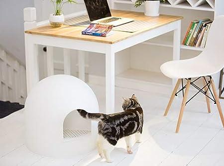 Pidan studio igloo cat litter box white maison de toilette
