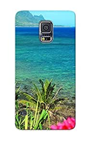 First-class Case Cover Series For Galaxy S5 Dual Protection Cover Hanelei Beach KegxvRS1280JxQdV