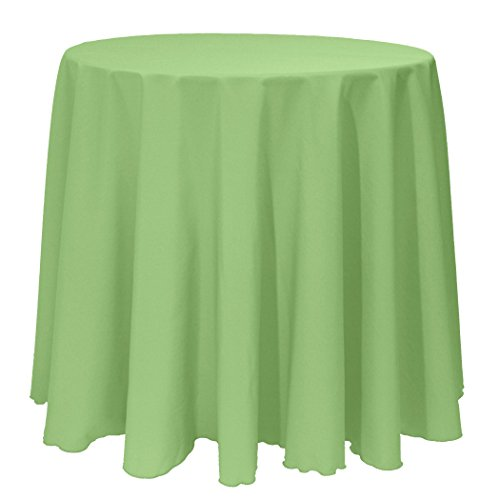 Ultimate Textile 90-Inch Round Polyester Linen Tablecloth Sage Green (Tablecloth Sage Polyester)
