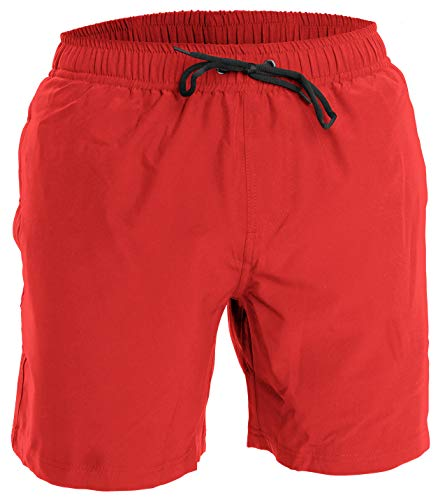 Men's Swim Trunks and Workout Shorts - XL - Red - Swimsuit or Athletic Shorts for The Beach, Lifting, Running, Surfing, Pool, Gym. Boardshorts, Swimwear/Swim Suit for Adults, Men's Boys