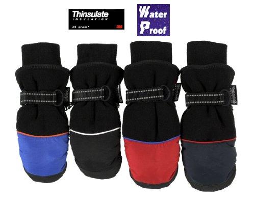 Waterproof Children's Micro-Fleece/Taslon Ski Mittens Red)