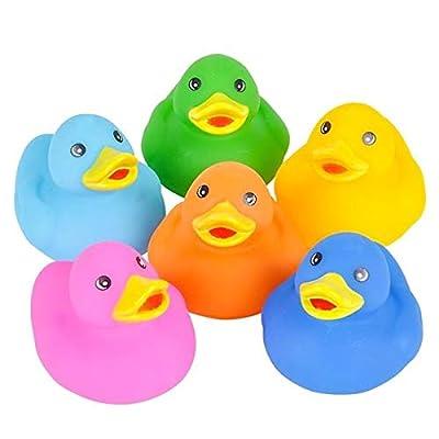 Rhode Island Novelty Assorted Color Rubber Ducks One Dozen: Toys & Games