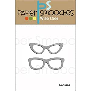 Paper Smooches Glasses Die