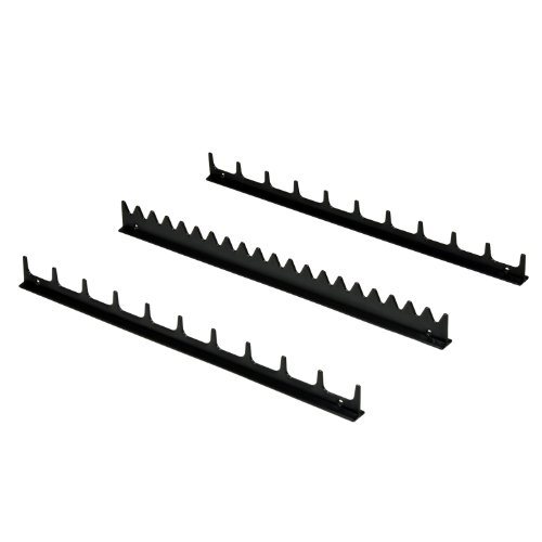 Ernst Manufacturing Screwdriver Rail Set with Magnetic Backing, 20 Tool, Black