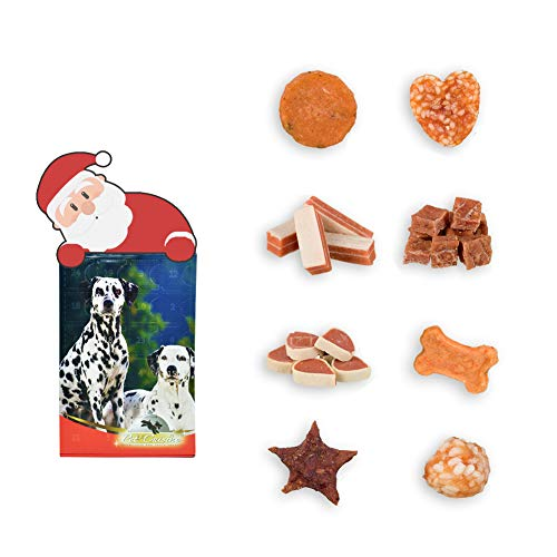 Treats Gift (Pet Cuisine Treats Box for Dogs, Included 8 Different Flavors, Christmas Treats for Dogs and Puppy)