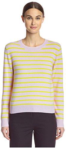 - Cynthia Rowley Women's Cashmere Striped Sweater, Blush, S