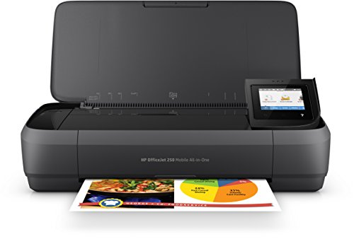 HP Officejet 250 mobiler Multifunktionsdrucker (Drucker Scanner, Kopierer, WLAN, HP ePrint, Apple Airprint, Wifi Direct, USB, 4800 x 1200 dpi) schwarz