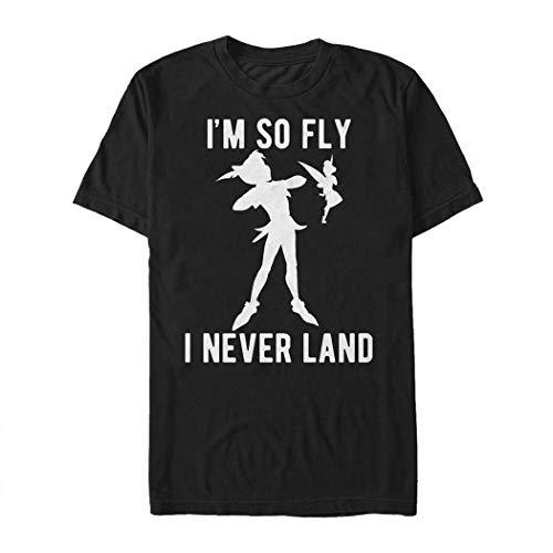 Disney Men's Peter Pan Tinkerbell I'm So Fly I Neverland Graphic T-Shirt, Black, M ()