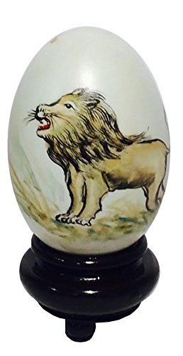 Lion with Majestic Mane Hand Painted Egg