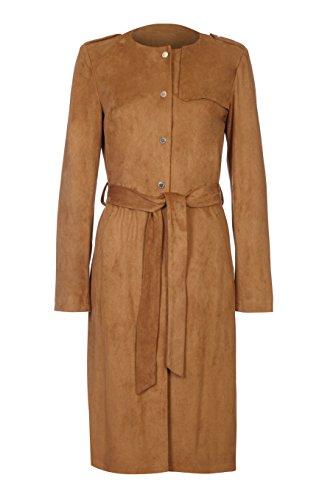 EX Per Una Marks & Spencer - Abrigo de Gamuza con Cinturón, Marrón Marrón