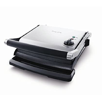 Image of Home and Kitchen Breville BREBGR200XL Panini Grill, Silver